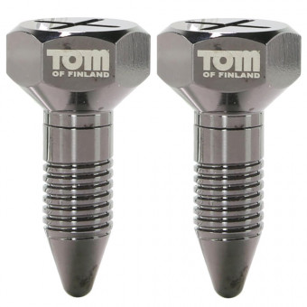 Украшение для сосков на магните Tom of Finland Screw U II Magnetic Nipple Clamps